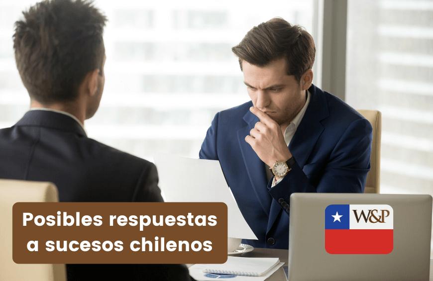 Posibles respuestas a sucesos chilenos